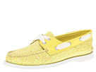 Sperry Top-Sider - A/O 2 Eye (Lime Glitter/Patent)