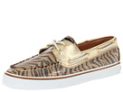 Sperry Top-Sider - Bahama 2-Eye (Gold/Brown Zebra (Sequins))