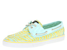 Sperry Top-Sider - Bahama 2-Eye (Aqua/Pucker Zebra (Sequins))