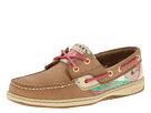 Sperry Top-Sider - Bluefish 2-Eye (Linen/Pink/Green Plaid (Sequins))