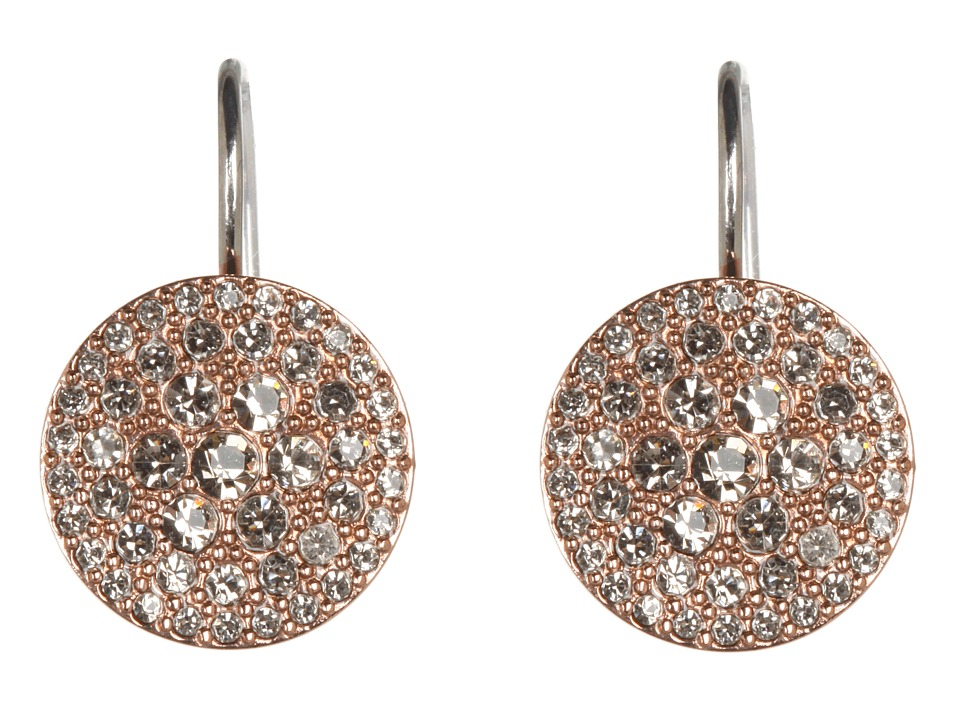Fossil - Vintage Glitz Earrings (Black Diamond/Rose Gold) Earring