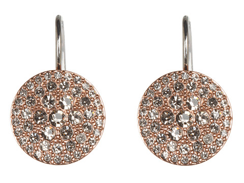 Fossil Vintage Glitz Earrings - Black Diamond/Rose Gold