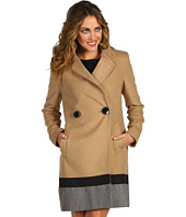 Vince Camuto - Colorblock Hem Wool Coat