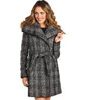Vince Camuto - Plaid Asymmetical Wrap Coat