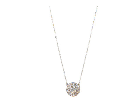 Fossil Vintage Glitz Necklace - Clear/Silver