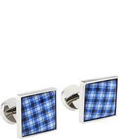 würkin stiffs - Gingham Blue Cufflinks