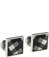 würkin stiffs - Cufflinks, Square, Black and White Plaid