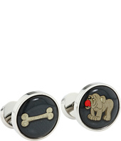 würkin stiffs - Cufflinks, Circle, Dog and Bone