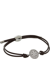 Fossil - Iconic Glitz Disc Leather Bracelet