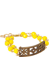 I Adorn U - Yellow Trifecta Block Party Bracelet