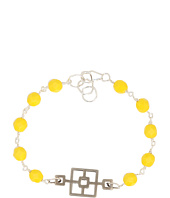 I Adorn U - Yellow Cinder Block Party Bracelet