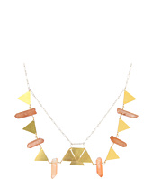 I Adorn U - Triangles & Pink Crystal Collar Necklace