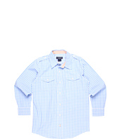 Toobydoo - Boys' Woven Light Blue Orange Cuff Dress Shirt (Toddler/Little Kids/Big Kids)