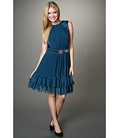 Jessica Simpson - Contrast Ruffle Hem S/L Dress