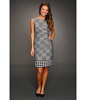 Jessica Simpson - Houndstooth Sleeveless Sunburst Pleat Dress