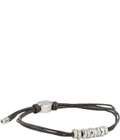 Fossil - Rondelle Adjustable Leather Bracelet