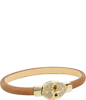 Fossil - Glitz Lock Leather Wrap Bracelet