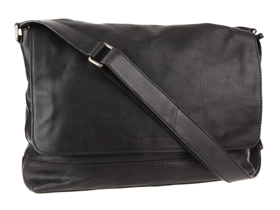 Frye James Messenger (Black Tumbled Full Grain) Messenger Bags