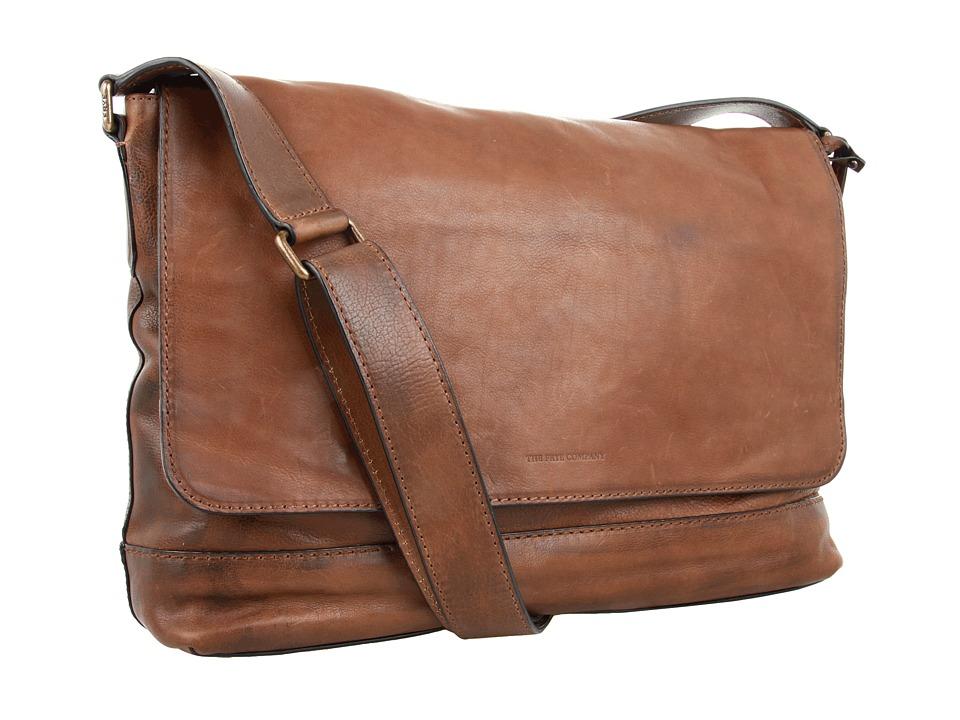 Frye - James Messenger (Taupe Tumbled Full Grain) Messenger Bags