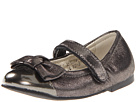 Venettini Kids - 55-Asley (Toddler) (Pewter Patent/Pewter Croc) - Footwear