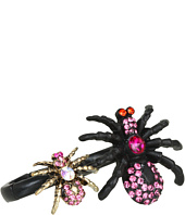 Betsey Johnson - Creepy Critter Spider 2 Finger Ring