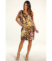 Jessica Howard - 1 Piece One Shoulder Blouson Dress W/Flutter Sleeve