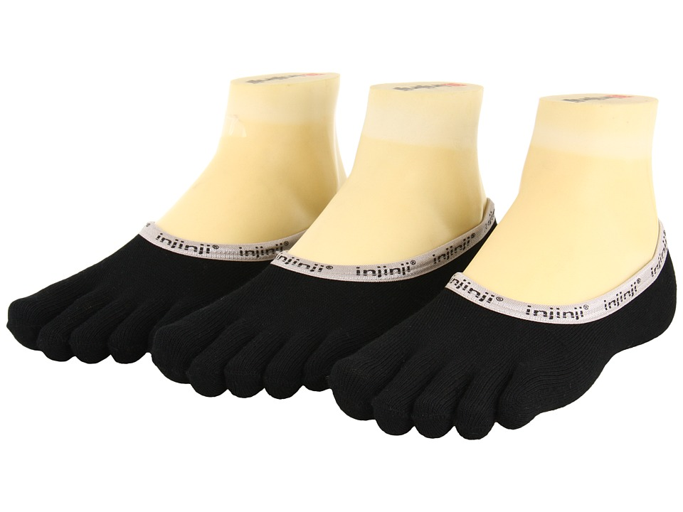 Injinji PED 3 Pair Pack Black Low Cut Socks Shoes