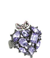 Betsey Johnson - Celestial Purple Heart Stretch Ring