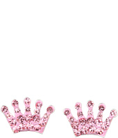 Betsey Johnson - Pave Pink Crown Stud Earrings