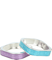 Betsey Johnson - Heaven's To Betsey Square Glitter Bangle Duo