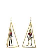 Betsey Johnson - '60s Mod Girl Triangle Drop Earrings