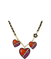 Betsey Johnson - '60s Mod Heart Charm Necklace