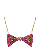 Betsey Johnson - '60s Mod Face Bow Necklace