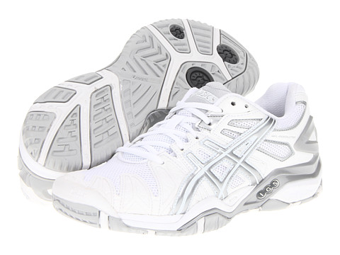 white asics running shoes