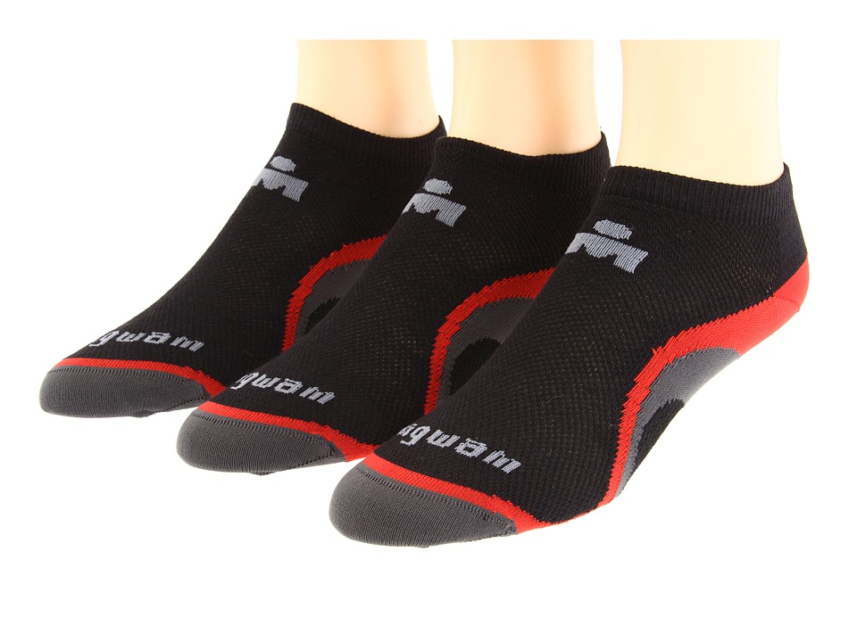 Wigwam IronMan Velocity Pro 3 Pack Black/Red Low Cut Socks Shoes