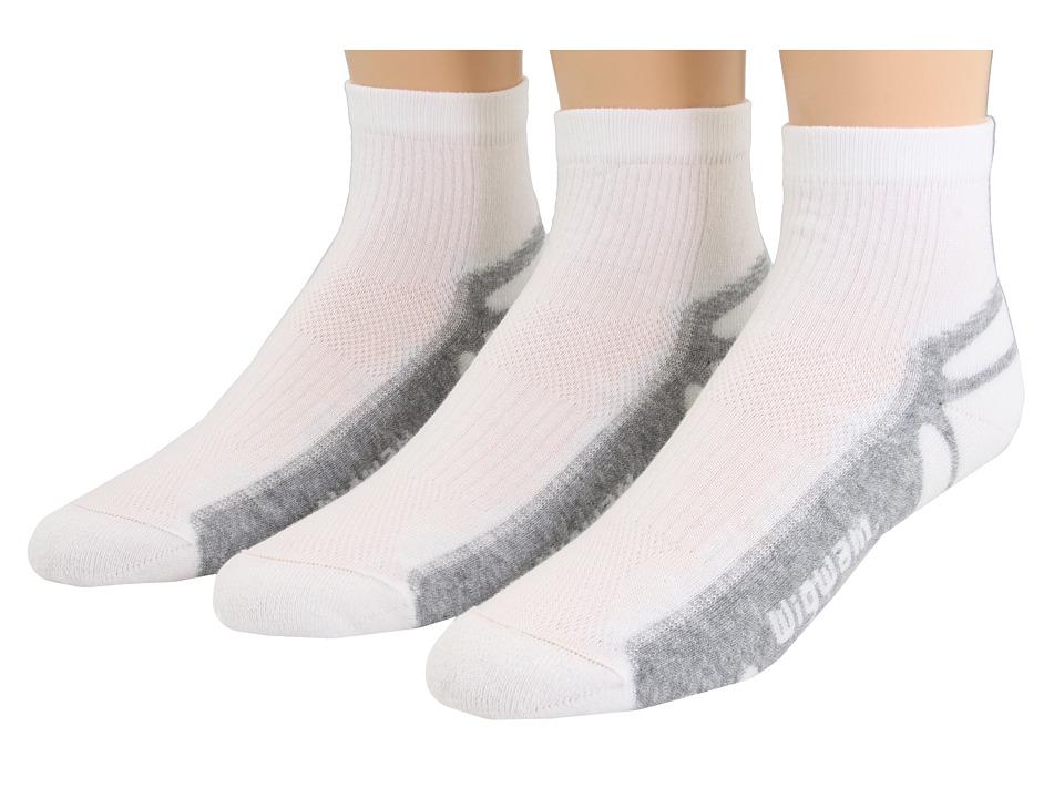 Wigwam IronMan Thunder Pro Quarter 3 Pair Pack White Quarter Length Socks Shoes