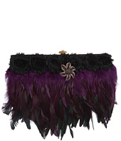 Inspired by Claire Jane - Dark Drama Feather Purse