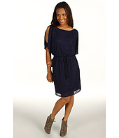 Jessica Howard - 1 Piece 3/4 Cold Shoulder Tie Waist Blouson Dress