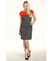 Jessica Howard - 1 Piece Cap Sleeve Seamed Two Pocket Shift Dress