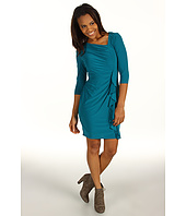 Jessica Howard - 1 Piece Elbow Slv Asymmetrical Neckline Side Ruched Dress W/ Cascade Ruffle Skirt
