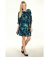 Jessica Howard - 1 Piece 3/4 Sleeve Tie Waist Blouson Dress