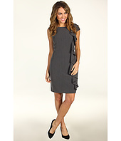 Jessica Howard - One-Piece Cap Sleeve Sheath Dress With Cascade Ruffle