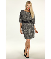Jessica Howard - 3/4 Sleeve Cowl Neck Dress With Belt & Pockets