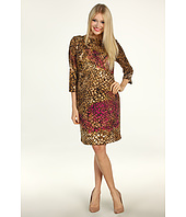 Jessica Howard - 1 Piece 3/4 Sleeve Starburst Side Tucked Sheath Dress