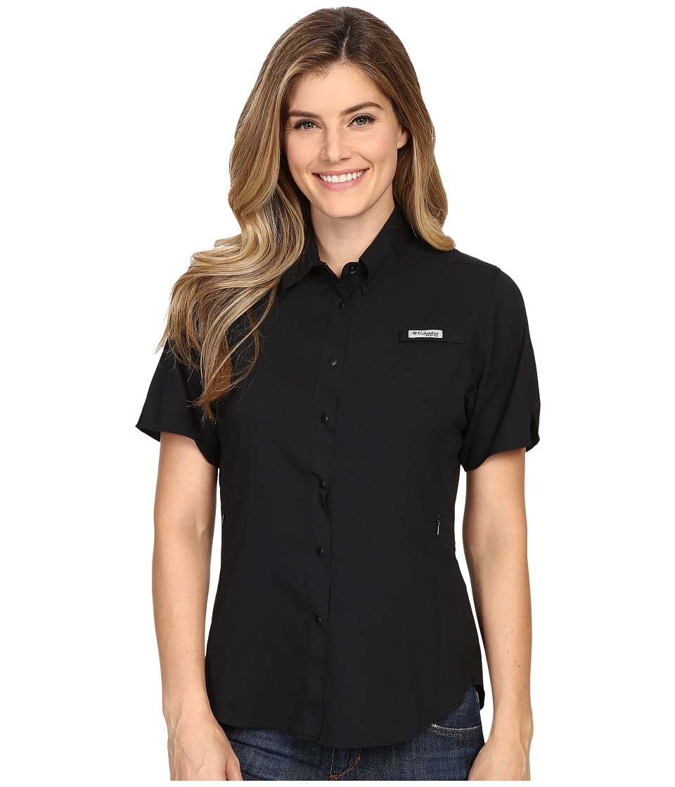 Columbia - Tamiamitm II S/S (Black) Womens Short Sleeve Button Up