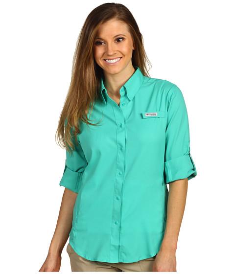 Cheap Columbia Tamiami Ii L S Shirt Glaze Green
