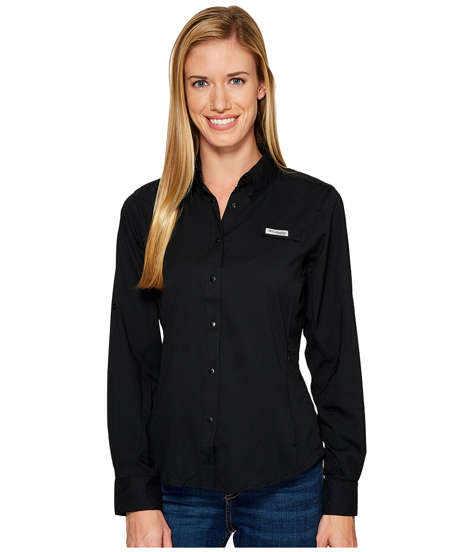 Columbia - Tamiamitm II L/S Shirt (Black) Womens Long Sleeve Button Up