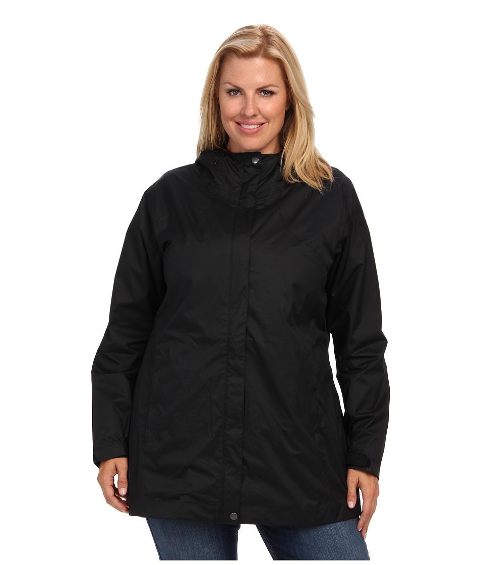 Columbia Plus Size Splash A Littletm Rain Jacket (Black) ...