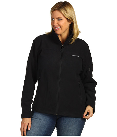 Columbia - Plus Size Fast Trek II Full Zip Fleece Jacket (Black) - Apparel