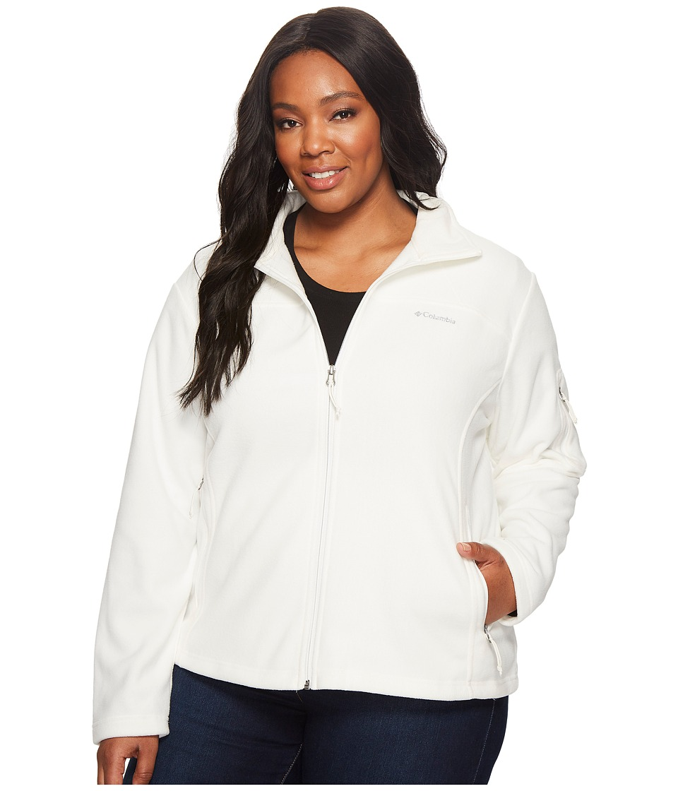 Columbia Plus Size Fast Trektm II Full Zip Fleece Jacket (Sea Salt) Women